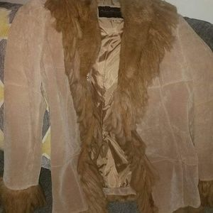 Ashley Stewart buckskin leather jacket.